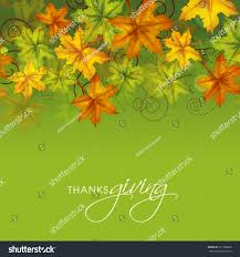 thanksgiving day celebrations colorful maples leaves on green background stock vector 221786608