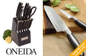 oneida kitchen knives tuango 69 99 for a 13 oneida knife block set value of
