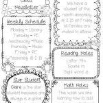 weekly letter to parents template best 25 weekly newsletter