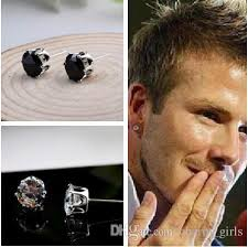 black ear studs 2018 2018 new fashion woman 4mm circular six claw steel zircon
