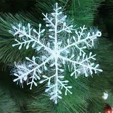 12pcs white snowflake ornaments for ornaments shoeu