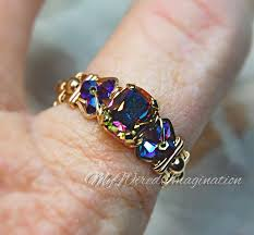 vintage crystal rings images Vitrail dark vintage swarovski crystal hand crafted wire wrap ring jpg
