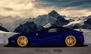 Ferrari F12 Blue - ferrari f12 berlinetta illukrative by illukrative on deviantart