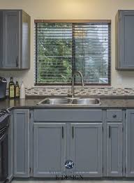 how to paint kitchen cabinets rustic kitchen update ideas painted cabinets from oak to gray