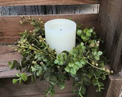 flower candle rings candle rings etsy