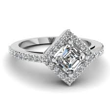 Cushion Cut Halo Diamond Engagement Ring In Platinum Affordable Halo Engagement Rings Fascinating Diamonds