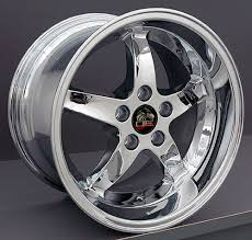 17x10 mustang wheels ford mustang cobra r style replica wheels chrome 17x10 5 17x9 set