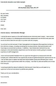 sample cover letter relocation resume cover letter relocation