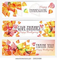 three happy thanksgiving banners thanksgiving background stock