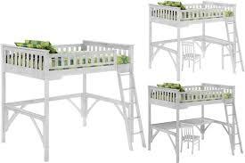White Pine Bunk Beds White Loft Bed For Size Loft Bed The Futon Shop