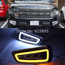 2013 ford f150 fog light replacement car styling fit ford f150 svt raptor 2009 2014 2x led drl daytime