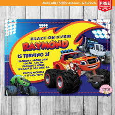 monster truck invitation blaze and the monster machines invitation by mrgeniusinvites on