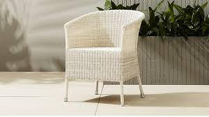 White Outdoor Dining Chairs Camilla White Outdoor Dining Chair Cb2