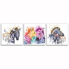 vogue wall decor promotion shop for promotional vogue wall decor water color painting hd zebra picture canvas prints bedroom wall decor vogue inner decor 3 pieces unframed