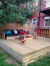 Cheap Backyard Deck Ideas Patio Deck Out Of 25 Wooden Pallets Front Porches Pallets And Porch