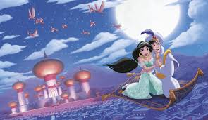 Popular Characters Murals Roommates Jl1371m Aladdin A Whole New World Prepasted Xl Mural