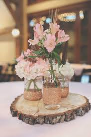 jar wedding centerpieces gold jar wedding centerpieces beautiful rustic tree stump