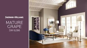 february 2017 color of the month mature grape sherwin williams