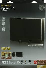 tv guide for antenna users amazon com ge 34137 ultrapro optima hdtv antenna for vhf uhf