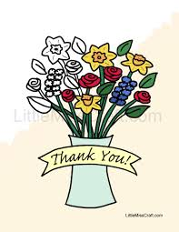 crafts thank you coloring pages