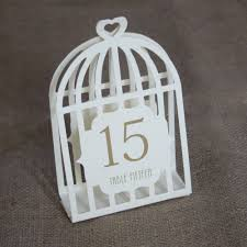 Laser Cut Table Numbers Wedding Table Numbers Bird Cage Table Numbers Ivory 1 15 Laser Cut
