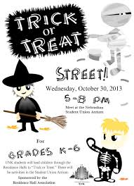 residence halls host trick or treat street oct 30