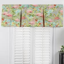 Pleated Valance Delectably Yours Com Pink Flamingos Tropical Bedding Collection