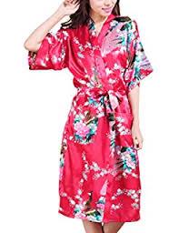 robe de chambre japonaise kimono japonais robe de chambre satin femme amazon fr