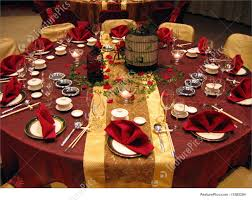 wedding banquet table setting image
