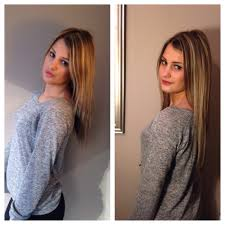 Before After Hair Extensions by Fusion Hair Extensions Before Application And After