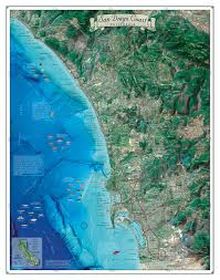 Map Of San Diego County by San Diego Coast Map Coastal California Series
