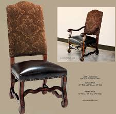 Nail Trim For Upholstery Tuscan Dining Room Chairs In Dark Chocolate Upholstery With A Dark