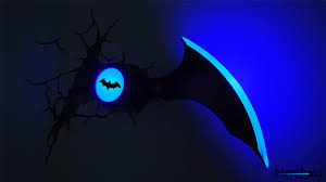 3d deco superhero wall lights batman batarang 3d wall light merchoid