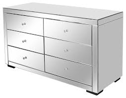 Venetian Mirrored Bedroom Furniture Furniture Three Drawers Mirrored Chest Of Drawers For Bedroom
