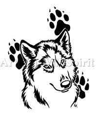 husky designs paw prints s