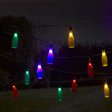 Solar Powered Patio Lights String by Smart Garden Solar Bottle String Lights 16 Multi Colour Led