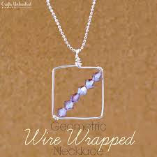 diy beaded pendant necklace images Wire wrapping diy geometric necklace crafts unleashed jpg