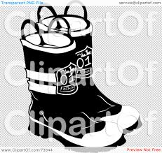 Firefighter Boots Store by Royalty Free Rf Clipart Illustration Of A Pair Of Black And