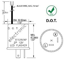 amazon com ef32rlnp electronic led compatible turn signal flasher