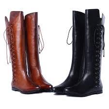 womens boots zip up back cowboy stylish motorcycle leather boots for black and