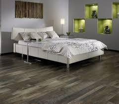 Bedroom Floor Design Grey Laminate Flooring In Bedroom With White Bedding Sets