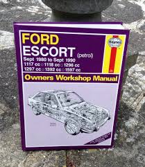 ford escort workshop manual 1980 1990 in croydon london gumtree