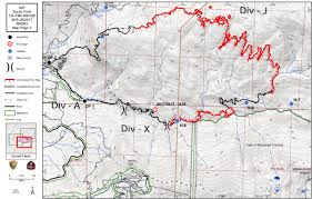 Wildfire Perimeter Map by South Fork Fire In Yosemite National Park Perimeter Maps For