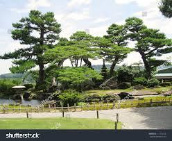 trees kenrokuen garden japan one three stock photo 111710126