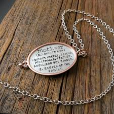 Customize Your Own Necklace Design Your Own Necklace Personalized Custom Hand Stamped Oval