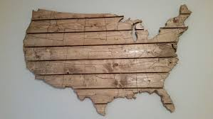 buy a crafted usa map large wooden wall made to order