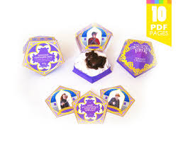 chocolate frog box template includes matching sign harry potter