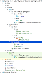 java how to locate thymeleaf template from spring boot stack