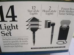 Low Voltage Landscape Lights Kit by 14 Light Brinkmann Malibu Landscape Lighting Kit 14 Tier 2 Flood