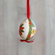 santa painted egg ornament k colette